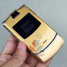 Motorola RAZR V3 Cellular Mobile Cell phone Refurbished Unlocked Bluetooth Gold