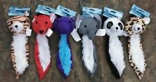 "New Type of Flat Plush 7"" Squeaky Dog Puppy Toys Lot of 3 - RANDOM COMBINATIONS"