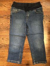 Maternity Jeans Capri Denim M Unbranded Embroidered Pockets