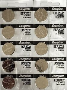 LOT OF 10pcs Energizer CR2032 3V Lithium Coin Battery 2032
