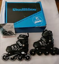 Woolitime InLine Skates With Light Up Wheels With 8 Light Up Wheels Youth Small