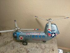 Vintage Tin Friction Piasecki H-22 Toy Helicopter Japan