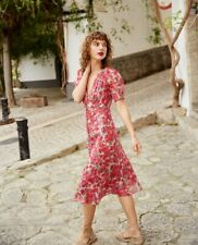 THE KOOPLES PARIS Long Party Dress With Floral Motif Size 1 Orig. $598 NWT