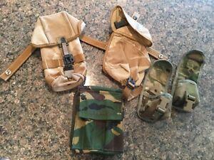 Genuine British Army Desert DPM PLCE ammo + medical pouch+ more