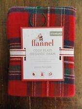 NEW Pottery Barn Kids Organic Flannel Cody Plaid Standard Sham Monogram jackson