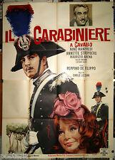 manifesto 4F originale IL CARABINIERE A CAVALLO Nino Manfredi Carlo Lizzani 1961