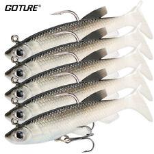 5pcs/lot Soft Plastic Fishing Lure lead Jig Bait 8.5cm13g Silicone Swimbait Carp