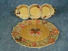 Decorative Autumn Oval Serving Platter