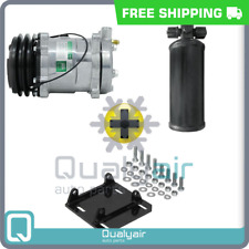 New AC Compressor With York to Sanden Mount And Universal Reciever - 12V