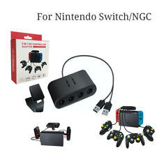 For Nintend Switch/PC/NGC 3in1 4Port USB For Game Cube Controller Adapter CA