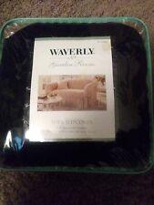 Waverly Garden Room Black Sofa Slip Cover
