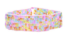 Cute Ladies Pink / Colorful Stretchable Rainbow  Bracelet Unique New(Zx59)