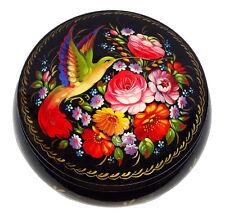 Boite décorative Boite bois peint Oiseau du Paradis, Artisanat Russe Cadeau
