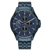 NEW TOMMY HILFIGER SHAWN 1791618 BLUE STAINLESS STEEL MENS CHRONOGRAPH WATCH