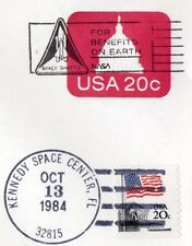 U.S.A cover dated 5-10 and 13-10 1984 with Kennedy space center post marks