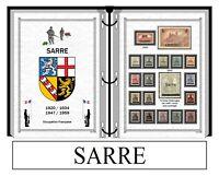 Album de timbres à imprimer  LA SARRE occupation Française