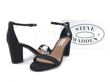 NEW Steve Madden Declair Women's Black Suede Dress Sandals US 8.5 W Shoes #A273