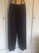 TS Elegant Black & Gold Pleat with Raw Edge Hem Pants Size 20 will fit Size 24