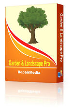 3D Garden & Landscape Outdoor Designer Planning Model Creation Tool Software DVD