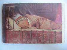Tired from 'World's Children' by Mortimer Menpes - Vintage Postcard Posted 1904
