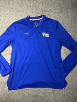 Nike Dri Fit Team Fly Rush Jacket Half Zip Pitt Panthers Pullover blue L Large