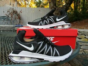 NEW Nike Mens Shox Gravity Black & White Athletic Shoes Mult Sizes AR1999-002