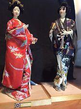Rare Kyugetsu Dolls Made In Tokyo Japan, Waka-shu Only Male Doll Show As Samurai