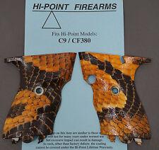 Hi Point Boa Snake Skin Custom Textured Grips C9 9mm CF380 380 acp Pistol Gun