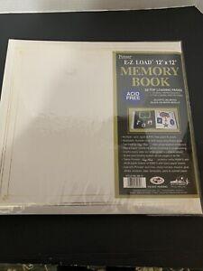 Pioneer MB-10 12x12 E-Z Load Memory Book White Photo Album Acid Free
