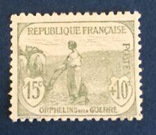 France N° 150 15+10 C Vert Neuf **  Centrage Correct TB Cote 125€ +