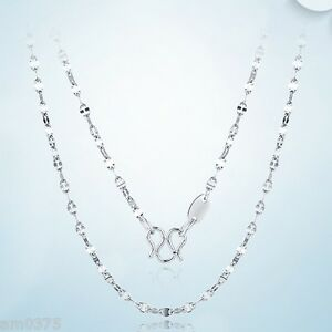Climb chain with 10 strands in platinum 80 cm