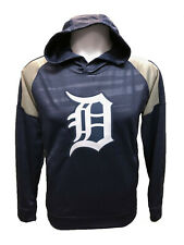 Detroit Tigers Youth Boys Clubhouse Pullover Hooded Sweatshirt - Navy