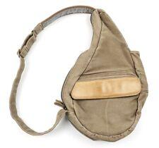 LL BEAN Canvas Leather Ameribag Saddle Messenger Shoulder Bag Vintage Tan Brown