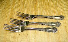 Estate Wm Rogers & Son Orange Blossom 3 Dinner Forks Silverplate 1910