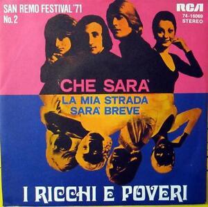 Single / SAN REMO FESTIVAL 1971 / RICCHI E POVERI / RARITÄT /