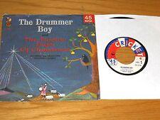 "CHRISTMAS 45 RPM w/PICTURE SLEEVE - CRICKETONE CHILDREN'S CHORUS - ""DRUMMER BOY"""