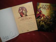 LA PORTE DES MONDES - LOT DES 2 TOMES EN EDITIONS ORIGINALES - LE 1 DEDICACE