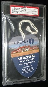 TIGER WOODS 2006 GOLF BRITISH OPEN CHAMPIONSHIP ROYAL LIVERPOOL TICKET RARE PSA