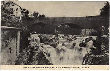 Wappingers Falls NY - STONE BRIDGE & WATERFALL - Postcard