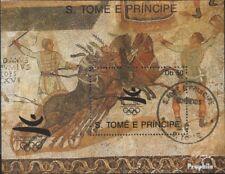 Sao Tome e Principe Block 196 gestempeld 1989 Spelen. Zomer, Barcelona