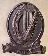 CELTIC IRISH HARP PLAQUE cast iron EIRE Ireland Public Building decor repro