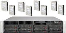 UXS Server 2U 8x NEW 4TB SATA Hard Drive FREENAS 11 2x E5-2630 V1 32GB DAS ZFS