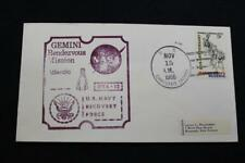 NAVAL SPACE COVER 1966 GEMINI GTA-12 RECOVERY SHIP USS CANISTEO (AO-99) (1801)