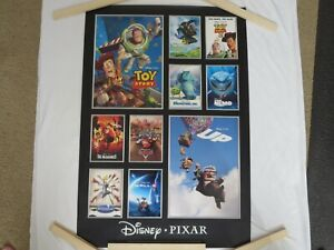 Rare Disney Pixar Movies Poster Toy Story Monsters Inc. Cars Incredibles New