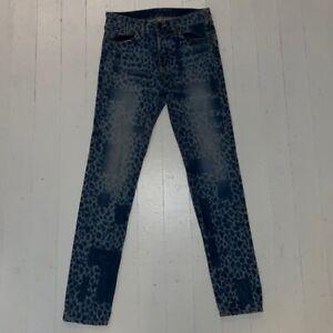 Bassike Leopard Print Jeans