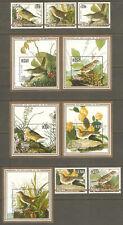 NIUE Sc# 466 - 475 MNH FVF Set-5+ 5xSouv Sht Audubon Birds Sparrow
