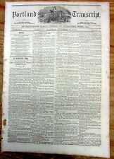 1850 newspaper with a Long essay describing VERY EARLY DAGUERROTYPE PHOTOGRAPHY
