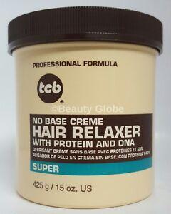 TCB Professional No Base Creme Hair Relaxer | Super Strength 15 oz | Jar