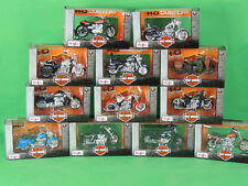 Maisto Harley Davidson Miniatur Modell Motorrad 1:18 Motorcycles Set 12xStück