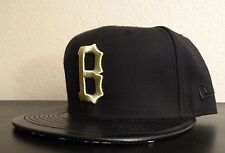 BLACK SCALE X NEW ERA MENS B GOLD DOW BLACK HAT FITTED HAT SIZE 7 1/2 59.6 cm